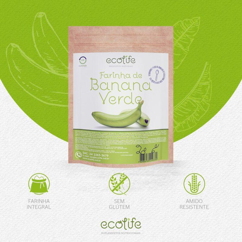 Benefícios da Farinha de Banana Verde Ecolife